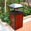 城市家具厂家直销仿古钢木垃圾箱YT-L06
