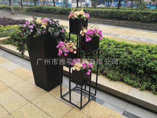 雅亭户外花箱镀锌钢板花盆耐用不生锈