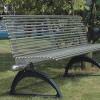 雅亭家具YT-S10不锈钢管公园长椅户外金属排凳