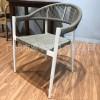 雅亭厂家生产现代风格绳编户外休闲椅